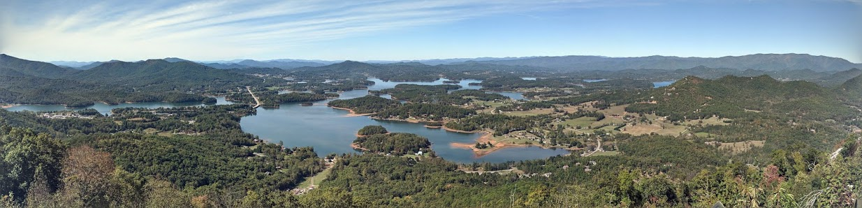 View of Lake Chatuge from Bell Mouintain in Hiawassee, GA